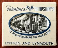 "Valentine's Snapshots, ""12 Real Photographs for Your Album"" – Lynton and Lynmout"