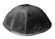 """8.2"""" Black Velvet Jewish Kippah Orthodox Yarmulka Kippa 4panel Skullcap 21cm"""