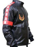 Smokey And the Bandit Burt Reynolds Black Bomber Leather Motorcycle Jacket