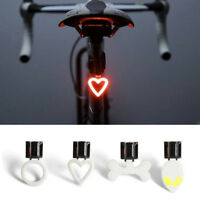 Bicycle Tail Lights Smart Warning Safety MTB Road Bike Rear Light Lamp USB LED E