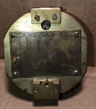 New listing Vintage Antique Solid Brass Natural Sine Stanley London Compass