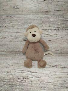 Jellycat London Bashful Monkey Plush  Brown Super Soft Stuffed Animal Toy