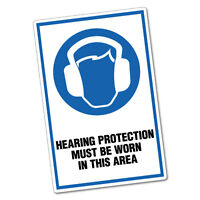 Hearing Protection Must Be Worn In This Area Sticker Decal Safety Sign Car Vi...