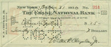 Walter P. Chrysler, Jr - Check Signed 10/31/1930 With Co-Signers