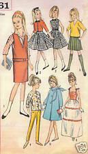 "5861 Vintage Slender Teen Doll Pattern - Size 9""- Year 1964"