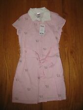 NWT Girls Gymboree pink Puppy preppy dress Size 7 NEW collared with belt