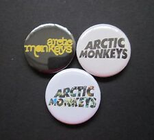 ARCTIC MONKEYS -X3  - LOGO- music -25MM BUTTON BADGES-FREE UK POSTAGE