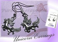 UNICORN EARRINGS~Pewter & Silver Plated~Magic~Mythical~Made by PurelyTherapeutic