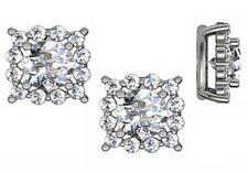 1.42 ct G VS2 natural hearts & arrows ideal diamond stud earrings 14k white gold