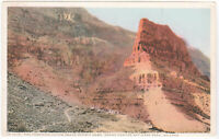 Grand Canyon, AZ Vintage Postcard Fred Harvey Cliff above Hermit Camp rocks old