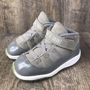 Nike Air Jordan 11 XI Retro 2010 Medium White Cool Grey 378040-001 Toddler Sz 8C
