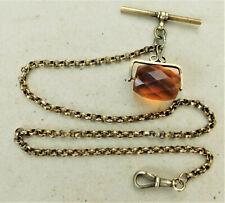 Watch Chain Vintage Antique No Reserve c1910 Brass Pocket