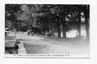 Vintage Postcard * RPPC * THE GROVE ** CRYSTAL LAKE ** GARRATTSVILLE NY * OTSEGO