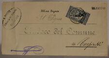 STORIA POSTALE REGNO 1 CENT SOPRASTAMPA 2 CENT (50° UNITA' D'ITALIA) 1913#SP715