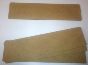 """2mm thick MDF 4 plane 8"""" by 2"""" FOW/Team Yankee Obstacles sized bases"""