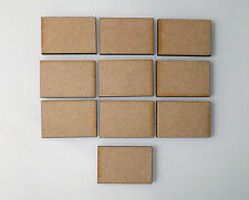 10 x MDF Wooden MINI PLAQUES signs blank craft shapes rectangles card making