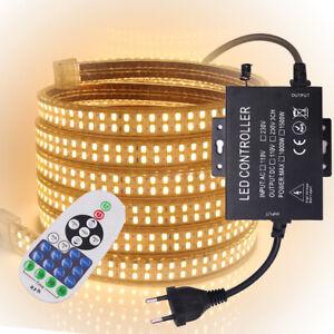 1-100m 110V/220V LED Strip 5730 SMD 240leds/m Dimmer Rope Tube Light Waterproof