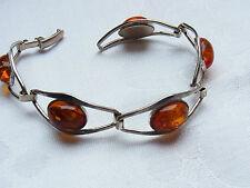 Stylé Amber Ambre Bracelet Bracelet Barcelet Ambre Argent Bracelet 143