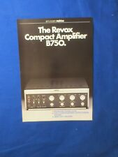 REVOX B750 SALES BROCHURE ORIGINAL FACTORY ISSUE THE REAL THING