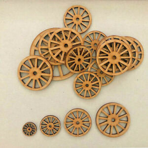 Cart Wheels Vintage Coach MDF Craft Shapes Wooden Gift Tags Decoration Trains