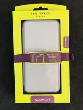 BNIB TED BAKER LONDON AW17 Cat Protect and Reflect Folio Case for iPhone X