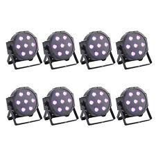 8 Pack 10W LED Flat Par Stage Light RGB Lamp Club DJ Party DMX512 Control Lights