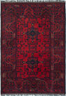 """Vintage Hand-Knotted Carpet 3'6"""" x 4'10"""" Traditional Oriental Wool Area Rug"""