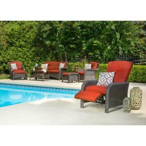 Outdoor Lounge Chair 36.25 in. D x 30.25 in. W x 40.75 in. H Adjustable Backrest