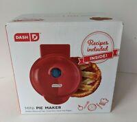 Dash Mini Pie Maker in Red. Dual Non Stick Pie Plates w/ Dough Cutter Included!