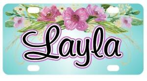 FLORAL SWAG MINI LICENSE PLATE Any Name Personalized for Kids Bikes Wagons Wall