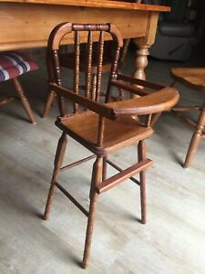Wooden  High Chair - Hand Made ...for doll,  teddy bear, display!!