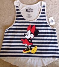 New Minnie Mouse Tank Top Navy Gray Juniors/ Women's Size L - Retail $22
