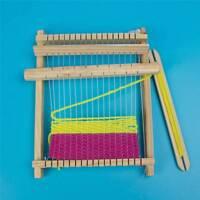 Child DIY Wooden Handloom Developmental Toy Yarn Weaving Knitting Shuttle Loom