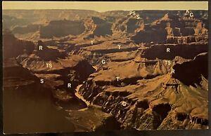Grand Canyon AZ  Northwest Rim Near Pima And Havasu Points Fred Harvey Postcard