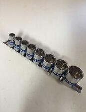 """Neilsen Whitworth Socket Conjunto de 8 piezas en 1/2"""" unidad 12 puntos BSW Carril"""