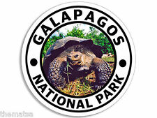 "GALAPAGOS NATIONAL PARK TURTLE 4"" USA MADE HELMET TOOLBOX CAR STICKER DECAL"