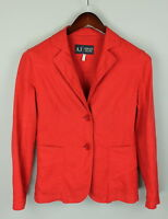 ARMANI JEANS Women's GB12 or ~M Linen Blend One Layer Blazer ITALY MADE! RCS8050