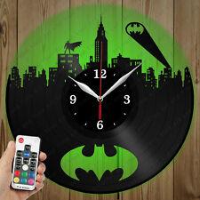 LED Vinyl Clock Batman LED Wall Art Decor Clock Original Gift 3791