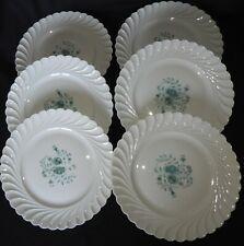 """L) Porcelaine de Limoges HAVILAND """"TORSE"""" Lot x6 assiettes plates 25 cm (fleurs)"""