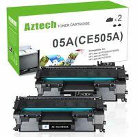 2 Pack Toner Compatible W/ HP 05A CE505A LaserJet P2055dn P2035n P2050 P2035