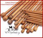Lot de 18 paires d'aiguilles tricoter bambou véritable LAINE TRICOT COUTURE 25CM