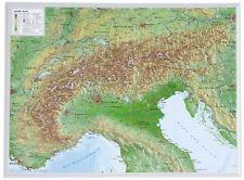 Vrai 3D Relief Alpes Format Paysage 39x29cm #100553