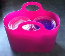16oz (4 x 4oz pots) Slime Putty Gift Basket, Pinks Purples In Carry Bag No Borax