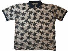 Tabasco Mens XXL Polo Shirt Multicolor Golf All Over Print Short Sleeve Vintage