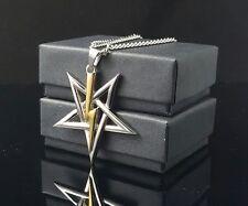 Church of Satan Sigil of Anton LaVey pendant necklace 316L Stainless