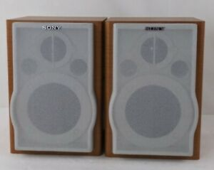 Sony SS-CEP707 Set Of 2 Wood Case Bookshelf Speaker System With Wire - Tested
