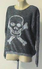 PURA MODA GreyAcrylicSkullKnitSzM4 NWoT
