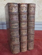 discurso de l'Ancien Roma 1784 Rollin Crevier 3 tomos old book libro 18eme