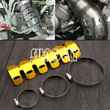 Motorcycle Gold Exhaust Heat Shield Pipe Guard Dirt Bike For Honda Yamaha