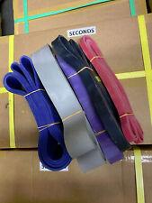 5 pack RESISTANCE BANDS JUMP SPRINT FLEX STRETCH  POWER WEIGHT LIFTING